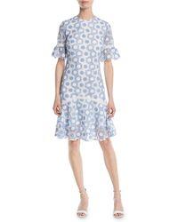 Shoshanna - Marisol Circle-lace Short-sleeve Dress - Lyst