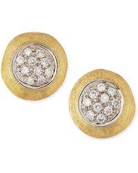 Marco Bicego - Jaipur 18k Gold Diamond Stud Earrings - Lyst