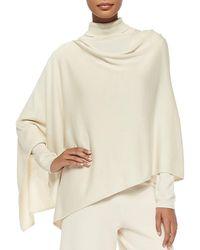 Joan Vass Silk/cashmere Poncho - White