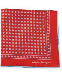 Ferragamo - Men's Giulietta Cars & Flowers Pocket Square Red - Lyst