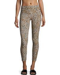 Norma Kamali | Cropped Leopard-print Leggings | Lyst