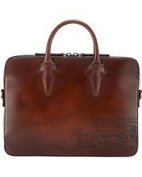 Berluti - Men's Profil Scritto Leather Briefcase - Lyst