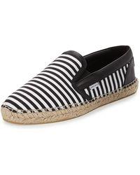 Jimmy Choo | Vlad Men's Striped Espadrille Slip-on Sneaker | Lyst