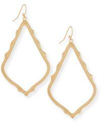 Kendra Scott Sophee Statement Drop Earrings In Rose Gold Plate - Metallic