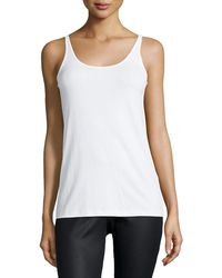 Eileen Fisher - Silk Jersey Long Slim Camisole Petite - Lyst