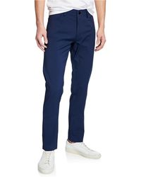Theory Men's Raffi Tech Neoteric Pants - Blue