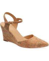 Bill Blass Perdi Cork Wedge Sandals - Natural