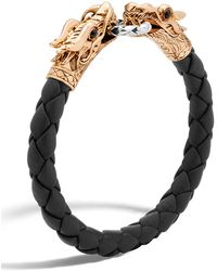 John Hardy - Legends Naga Dragon Leather Bracelet - Lyst