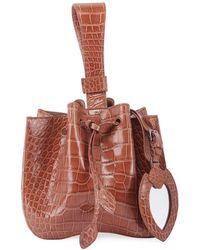Alaïa Rose Marie Alligator Bucket Bag - Brown