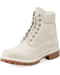 """Timberland - 6"""" Icon Tread Canvas Combat Boot - Lyst"""
