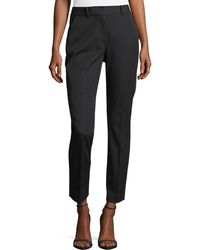 Elie Tahari - Alanis Cotton-twill Ankle Pants - Lyst