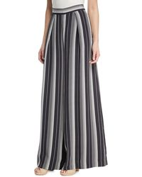 Zimmermann - Breeze Wide-leg Striped Silk Pants - Lyst