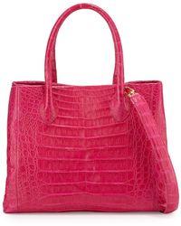 Nancy Gonzalez - Crocodile Medium Convertible Tote Bag - Lyst