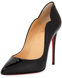 5498cf14f13 Christian Louboutin - Hot Chick 100 Patent Red Sole Pumps - Lyst