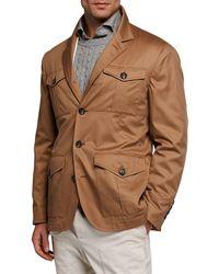 77d60e78a Brunello Cucinelli - Men s Safari Silhouette Solaro Jacket - Lyst
