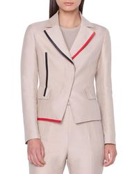 Akris - Aiko Short Leather-contrast Jacket - Lyst
