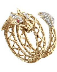 John Hardy Naga 18k Dragon Coil Ring, Size 7 - Metallic
