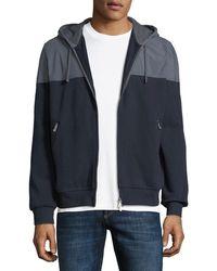 Brunello Cucinelli - Men's Spa Colorblock Cotton-stretch Hoodie Sweatshirt - Lyst
