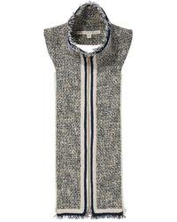 Veronica Beard Walden Tweed Dickey - Metallic