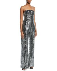 1b903700dbce Alexis - Carleen Sequin Strapless Wide-leg Jumpsuit - Lyst