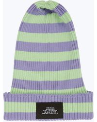 Marc Jacobs - Redux Grunge Collection Striped Cotton Beanie Hat - Lyst