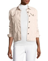 ATM - Leather Button-front Jacket - Lyst