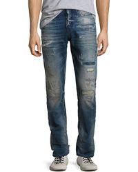 PRPS - Demon Distressed Denim Slim-straight Jeans - Lyst