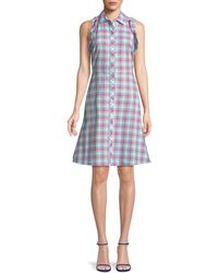 Kate Spade - Madras Plaid Poplin Sleeveless Shirtdress - Lyst