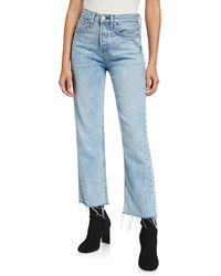 Rag & Bone Maya High - Rise Cropped Straight - Leg Jeans In Icy Blue
