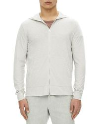 Theory | Layer Cosmo Zip-front Cotton Hoodie | Lyst