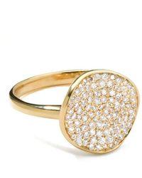 Ippolita - Stardust Diamond Disc Ring, 12mm - Lyst