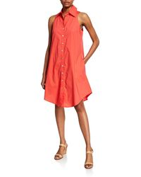 Finley - Button-front & Back Sleeveless Swing Dress - Lyst