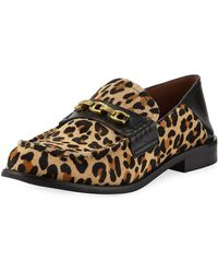 COACH - Putnam Leopard-print Loafers - Lyst