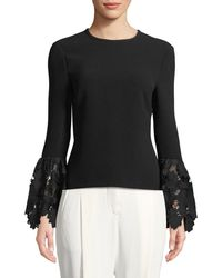 Rachel Zoe - Emily Long-sleeve Blouse With Lace Cuffs - Lyst