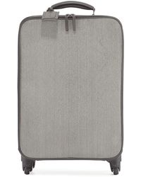 Brunello Cucinelli Monili Spinner Wheeled Carryon Suitcase Grey Pattern - Gray