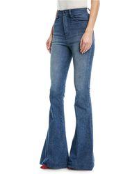 Brandon Maxwell - Bellbottom Denim Jeans - Lyst
