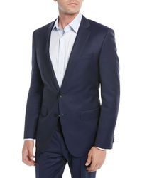 BOSS - Men's Wool Basic Two-piece Suit Blue - Lyst