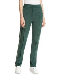 JOSEPH Technical Jersey Track Pants - Green