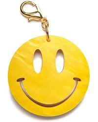 Edie Parker - Happy Face Bag Charm - Lyst