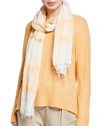 Eileen Fisher Organic Cotton Zigzag Jacquard Scarf - Multicolour