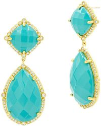 Freida Rothman - Color Theory Double-drop Earrings, Turquoise - Lyst