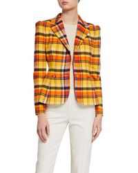 Ralph Lauren Collection Tailored Check Print Blazer - Orange