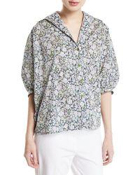 Zac Posen Liberty Cotton Oversized Shirt - Multicolor