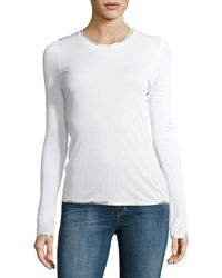 Zadig & Voltaire - Willy Foil-detail Top - Lyst