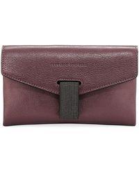 Brunello Cucinelli - Mini Leather City Crossbody Bag - Lyst