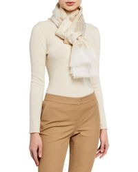 Liberty Honor Silk-blend Jacquard Scarf - Natural