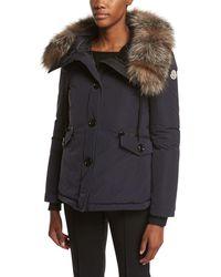Moncler - Malus Fur-trim Puffer Jacket - Lyst