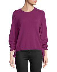 Autumn Cashmere - Drawstring-sleeve Crewneck Cashmere Sweater - Lyst