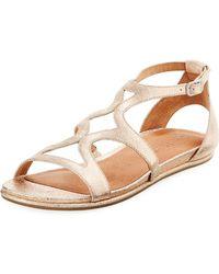 4ed8ec2b5931 Lyst - Gentle Souls Prisca Perforated Platform Walking Sandals in ...
