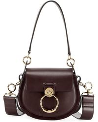 Chloé - Tess Small Leather/suede Camera Crossbody Bag - Lyst